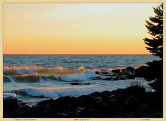 ORANGE JUICE MORNING (strandviewphotos) Tags: trees winter ice sunrise northshore mornings lakesuperior lakescapes
