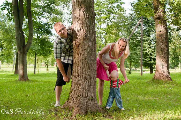 Ванечка с мамой и папой