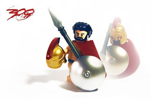 Spartan King LEONIDAS 300 custom minifig