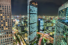 Tokyo By Night (4 Colour Progress) Tags: japan night tokyo cityscape nightscape nightshot hdr highdynamicrange shimbashi tokyonight parkhoteltokyo nighthdr japanhdr nikond90 hdrjapan nikonhdr tokyohdr