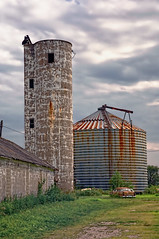 Reynolds (Pete Zarria) Tags: rural illinois corn midwest farm elevator grain iowa gasstation americana smalltown farmtown rfd omot