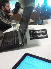 We are at the Technology & Broadband table, and we're the most wired. #MRA10