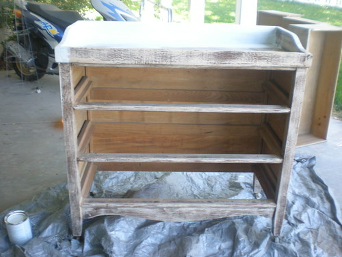 dresser/changing table - after some sanding