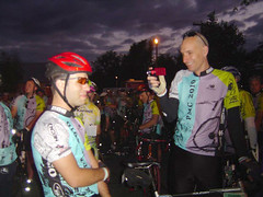 Ornoth interviews Paul in Sturbridge while they are lined up prior to the 5:30am start.