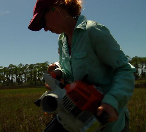 Emily operates bug vac