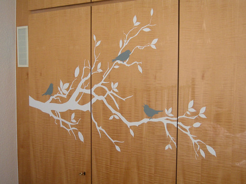 vinyl wall decal, not on the wall
