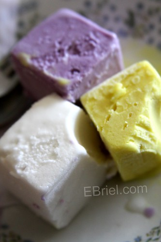 Taro, Coconut and Durian Icecream, Phonsavanh Laos