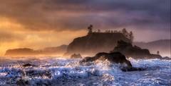 [フリー画像] 自然・風景, 海, 海岸, 波, パノラマ, 201009041900
