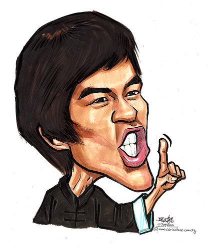 Bruce Lee caricature A4