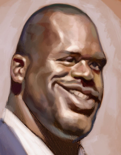 Schoolism Assignment 2 - digital caricature of Shaquille O'neil - 2 small