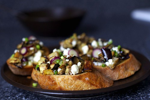 eggplant salad toasts | smitten kitchen