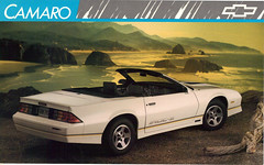 1989 Chevrolet Camaro IROC convertible (coconv) Tags: auto old art classic cars chevrolet hardtop car illustration truck vintage magazine advertising cards flyer automobile post antique album postcard ad convertible camaro advertisement vehicles chevy card postcards vehicle trucks 1989 autos collectible collectors brochure coupe automobiles dealer iroc z28 prestige