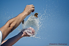 Breaking a water baloon ( ) Tags: water speed photography high ballon dimitris       katsaras