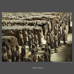 traveler : Tireless Stance (tofu_minx) Tags: china art grave asia mud terracotta military tomb unesco formation xian terracottawarriors burial pottery warriors chin agression