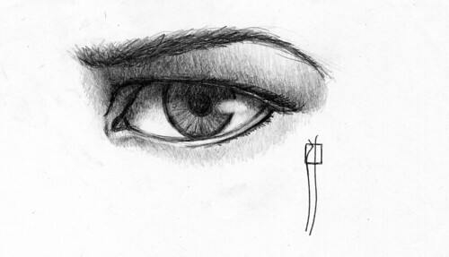 sketch of an eye.