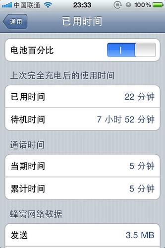 iphone 4电量