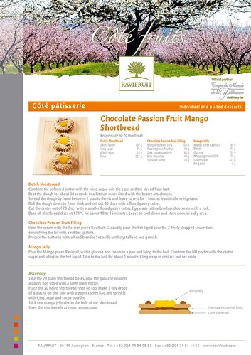 Chocolate Passion Fruit Mango Shortbread Recipe from Ravifruit