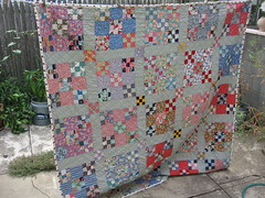 finished! feedsack quilt (lemonhalf) Tags: thirties quilt feedsack fabric thrift quilting twenties