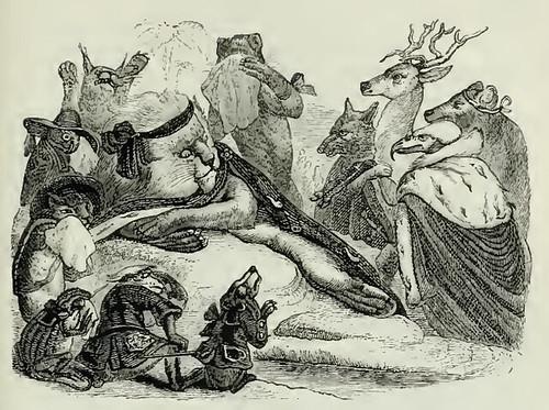 Cervus et Leaena Mortua