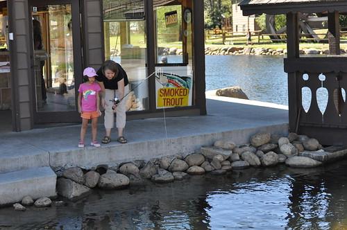 Jen & Gwenyth Fishing