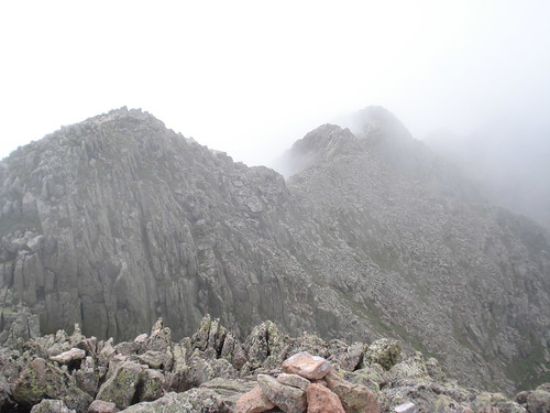 Katahdin_the knife's edge in the mist