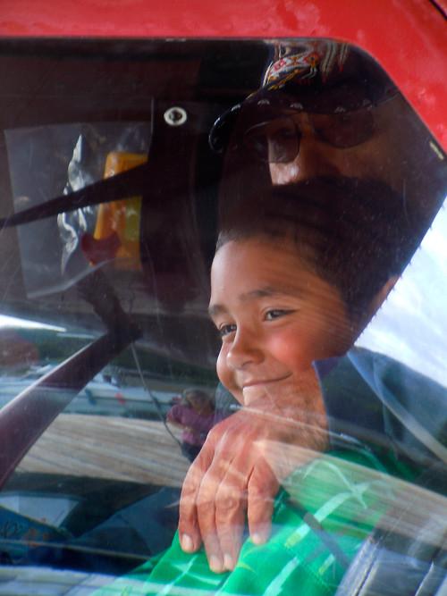 grinning boy, Kasaan, Alaska