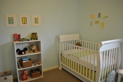Bookcase and crib