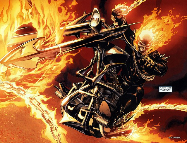 Ultimate Ghost Rider by Leinil Yu from Ultimate Avengers 2, 2010