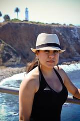0002_SuzieTest (katNovoa) Tags: lighthouse southbay beachhat pointvincent shortblackdress suzielara