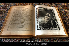 Holy Bible 1887  (HDR) (der.br) Tags: world old germany book war stuttgart alt holy bible hdr worldwar bibel holybible weltkrieg schnaich 1887 schoenaich