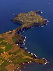 Old Head of Kinsale (silyld) Tags: ireland cliff golf flying rocks cork aerial garretstown kinsale bunker golfcourse airbus airborne aerlingus corcaigh intheair abovetheearth garrylucas