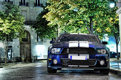 Shelby GT500 (__martin__) Tags: auto street blue paris cars ford by night nikon automobile nightlights muscle engine automotive american shelby autos mustang capture tamron nuit nocturne spotting exotics supercars ambiance gt500 carspotting d80 worldcars carshooting nightatmosphere carparis martincarspictures