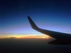 Indian Sunset (Anindo Dey) Tags: sunset india blackberry maharashtra monsoons pradesh dey madhya boeing737800 anindo centralindia jetairways oniondo anindodey