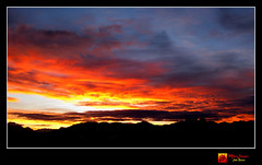 Sunrise on the way to the golf course (moi_images) Tags: africa sky orange cloud color colour sunrise south capetown westerncape