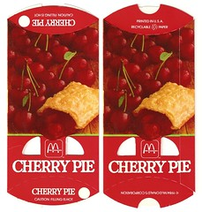 1984 McDonald's Cherry Pie box (daniel85r) Tags: mcdonalds 80s vintagepackaging