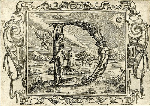 004-Letra D-Grotesque alphabet in mythological landscapes-© The Trustees of the British Museum