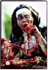 Vancouver Zombie Walk 2010 (PiscesDreamer) Tags: street city portrait urban canada vancouver costume blood downtown sister britishcolumbia makeup nun seawall portraiture undead sunsetbeach englishbay stanleypark bloody zombies denmanstreet livingdead daviestreet vancouverzombiewalk zombiewalk2010