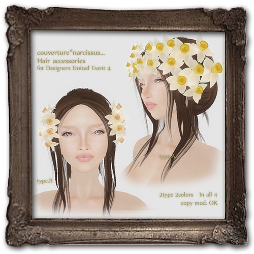Designers United4 :narcissus hair accessory