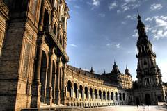 Seville. Plaza de espaa. Sevilla (J. A. Alcaide) Tags: sunset espaa architecture buildings atardecer sevilla spain arquitectura edificios europa europe seville