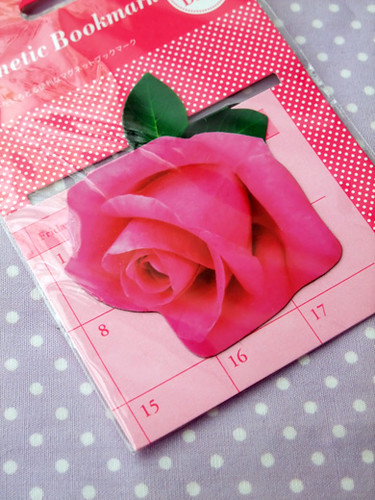rose magnetic bookmark