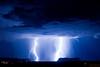 Thunderstorm in Monument Valley I - cropped (heitere_fahne) Tags: usa southwest monument america butte bolt northamerica thunderstorm lightning monumentvalley amerika blitz gewitter 2010 nordamerika