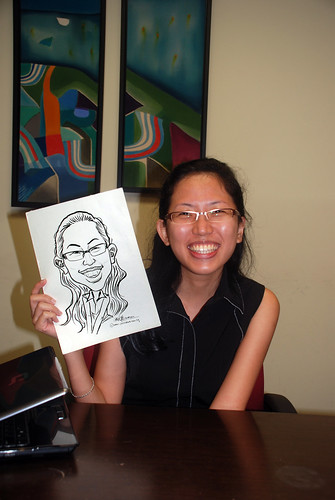 Caricature live sketching @ UOB Finance Division - 11
