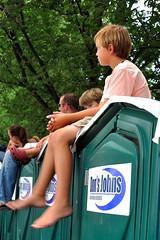 Sittin' on the John (noblerzen) Tags: street boy kids john washingtondc nikon downtown nw rally toilet nationalmall lincolnmemorial dcist services portapotty teaparty sanitation johnnyonthespot glennbeck d90 donsjohns restoringhonor