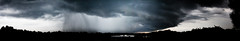 As The Storm Rolls In (matthileo) Tags: panorama storm rain clouds dark grey apartments alabama gray wide auburn trail