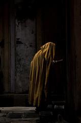 A tribute to Rembrandt (Mobeen_Ansari (in Seattle, LA, TX and DC July-Augu) Tags: old blue pakistan woman yellow alley nikon zoom photowalk oldwoman punjab dslr 70300mm rembrandt ppo rawalpindi d90 nikond90 rajabazaar