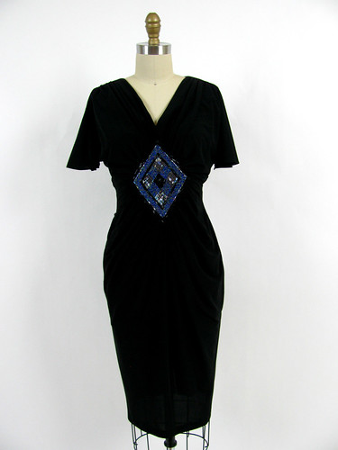 VINTAGE 1970's BEADED EVENING DRESS