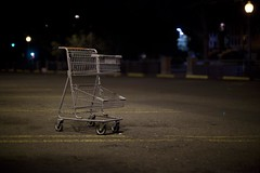 shopping cart (didnotspillcoffee) Tags: night shopping colorado parking lot denver cart canon5dmkii didnotspillcoffee 55mmnikkoraisf12