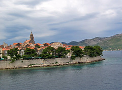 Korula Town, from the east, Croatia (Paul McClure DC) Tags: coast scenery croatia adriatic hrvatska dalmatia korula june2010