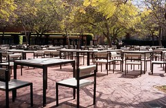 Tables and Chairs (airencracken) Tags: 120 6x6 film 35mm mediumformat fuji may slidefilm ucla 135 e6 100asa 2010 emulsion fujisensia100 100iso fujisensia leicam3 prolab airencracken swanlabs