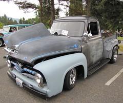 1955 Ford F100 (bballchico) Tags: ford 1955 truck pickup f100 hotrod carshow ratbastardscc ratbastardsinfestation2010 xxxrootbeerdriveinissaquah